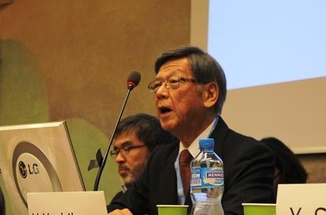 Governor Takeshi Onaga_HRC30_Militarization and human rights violations in Okinawa, Japan_21092015