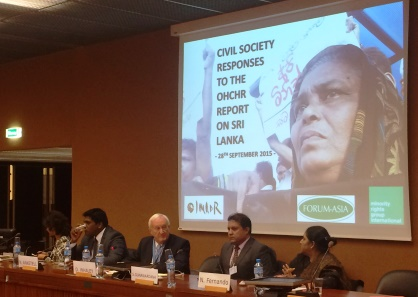 Civil Society Responses to the OHCHR report on Sri Lanka_28092015