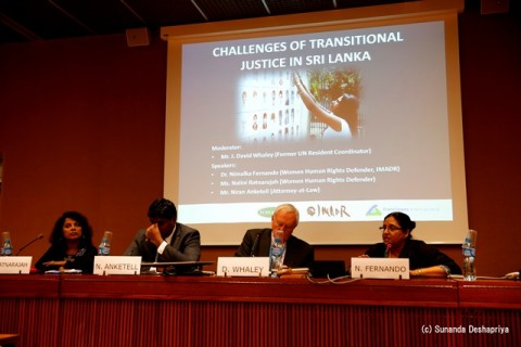 HRC31 side event_Challenges of Transitional Justice in Sri Lanka_Panalists
