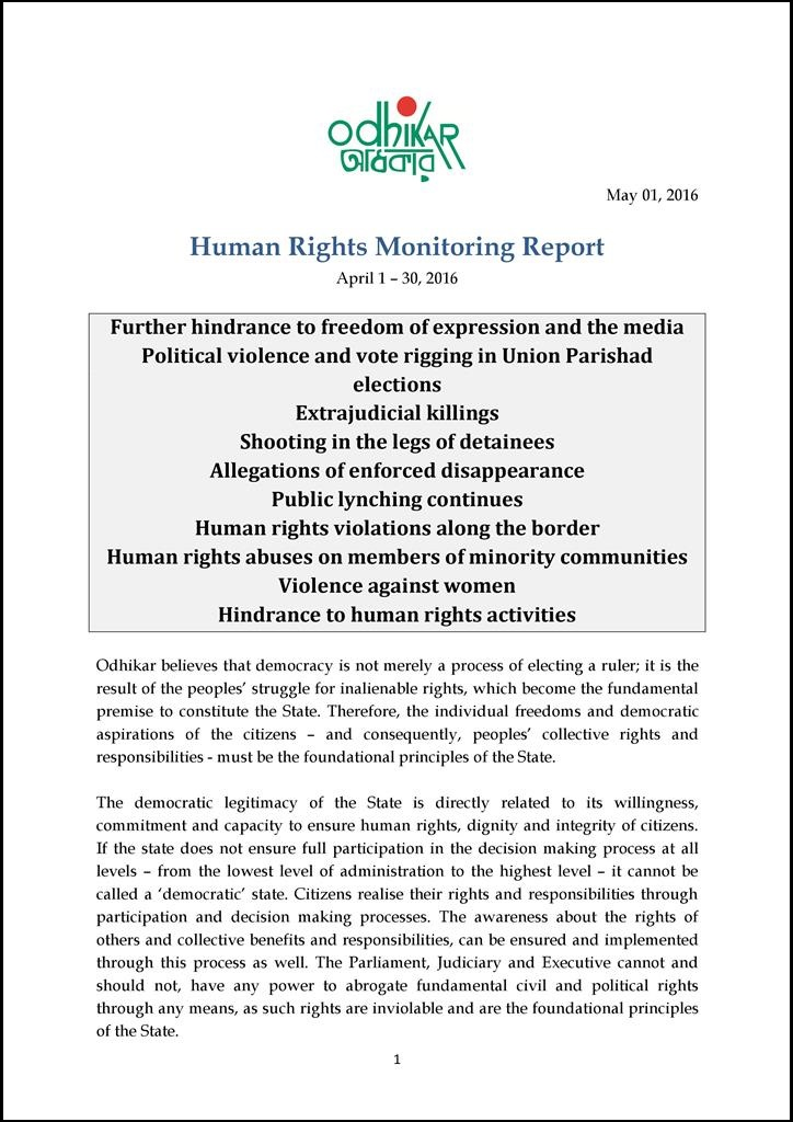Odhikar_Bangladesh_Human-rights-monitoring-monthly-report-April-2016_Eng