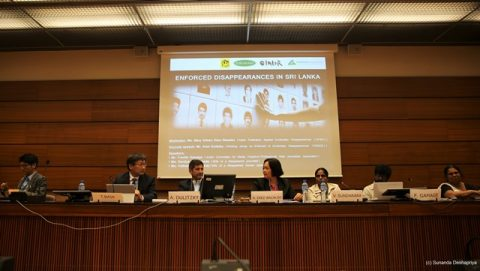 HRC33_Side Event_Enforced Disappeaarances in Sri Lanka
