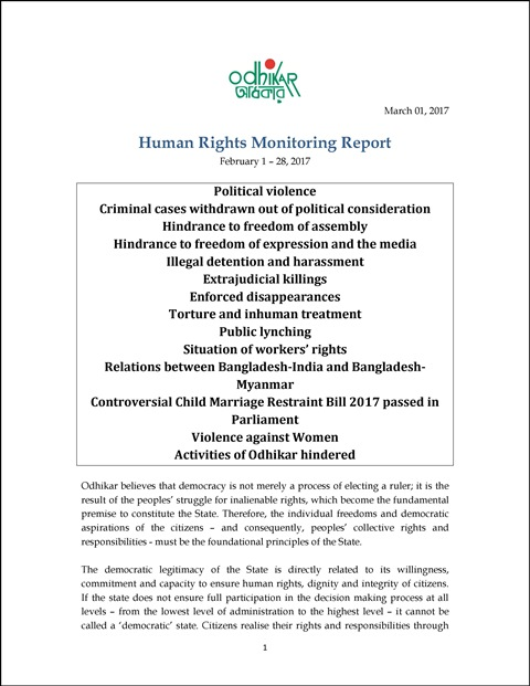 Odhikar_Bangladesh_Human-rights-monitoring-monthly-report-February-2017_Eng